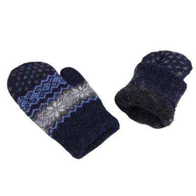 Women Winter Warm Knitted Gloves Christmas Jacquard Mittens Snowflake Gloves Fashion New