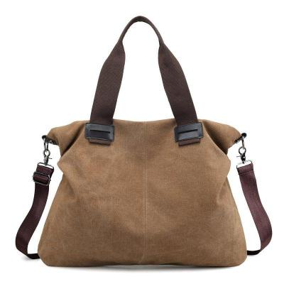 Bag - Casual Soild Durable Thicker Canvas Large Capacity Shoulder Bag