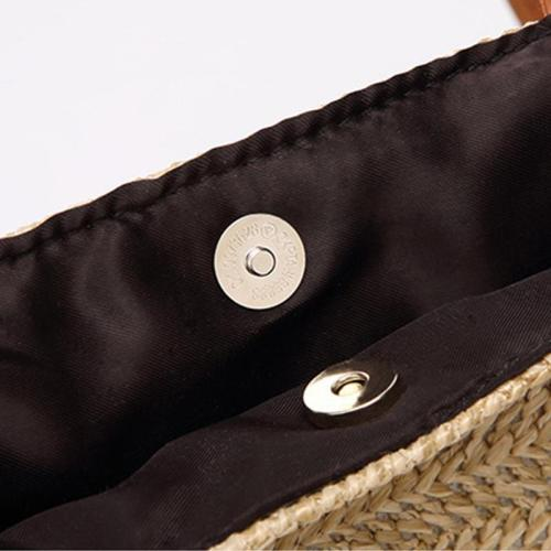Bag - Ladies One-shoulder Bucket Straw Bag
