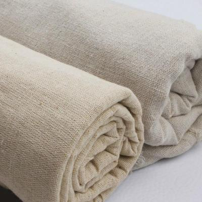 50cmx155cm Light Beige Vintage Hemp Solid Color Linen Fabric For Sewing Storage Bag And Pillow Case Background Fabric