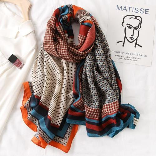 women Fashio Print Cotton Spring Winter Warm Scarf