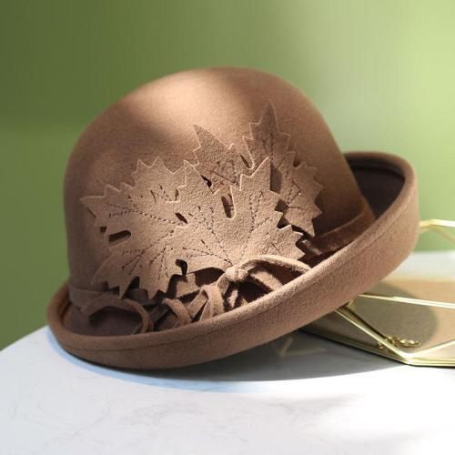 Elegant Retro Autumn Winter Woolen Wool Felt Hat