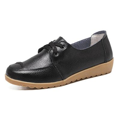 Women PU Loafers Casual Comfort Slip On Shoes
