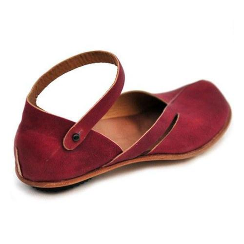 Leather Daily Flat Heel Sandals
