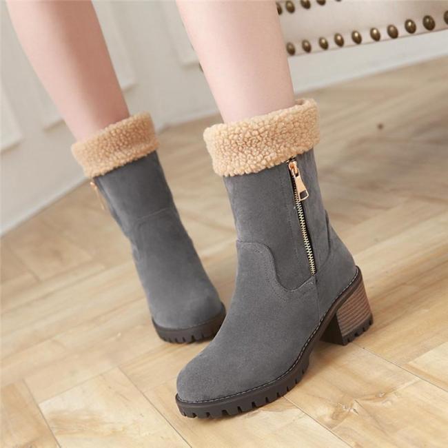 Casual Artificial Nubuck Boots