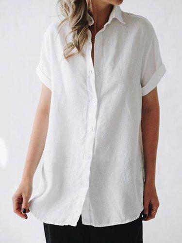 Linen Casual Tops