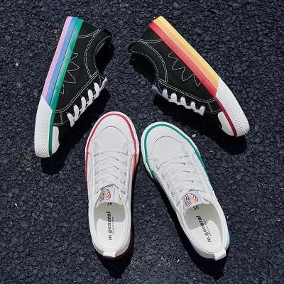 Fashion Casual Korean Style Mixed Color Canvas Shoes Sneakers