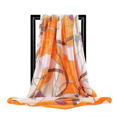 Women Silk Foulard Scarves Square Scarf Ladies