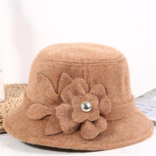 Women's Hats Fall/winter Dome Hats Solid Warm Woolen Hats
