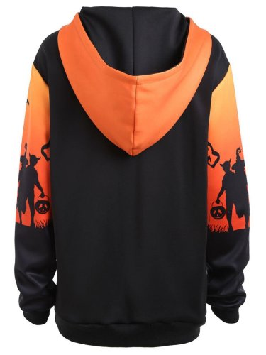 Long Sleeve Halloween Hoodie Pockets Hoodies