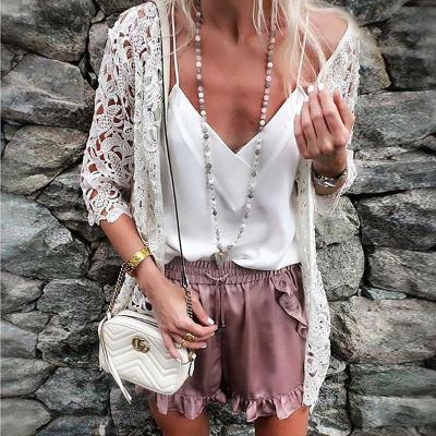 Casual Loose Sexy   Hollow Out Sunscreen Knitted Sweater Cardigan