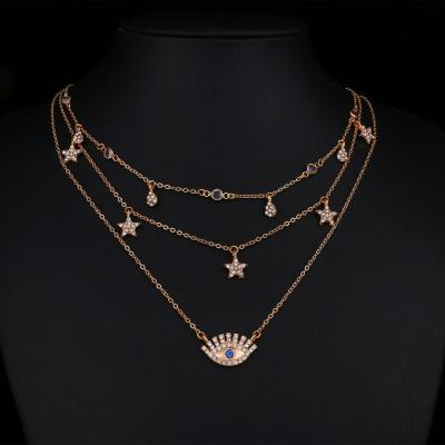 Bohemia Multilayer Crystal Pendant & Necklace Set Women Creative Shiny Necklace