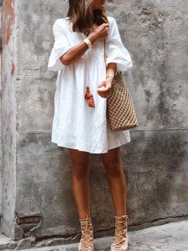 Bohemian holiday cotton dress