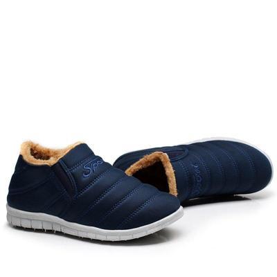 Dark Blue Women Fleece-lined Ankle Snow Boots