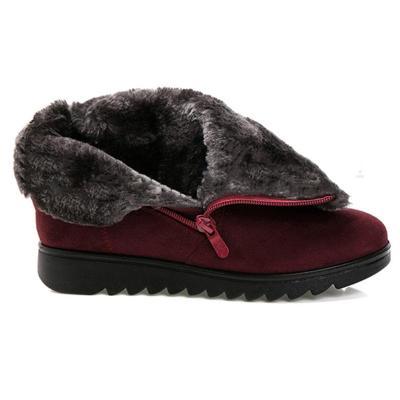 Women Winter Shoes Warm Snow Zipper Ankle Boots