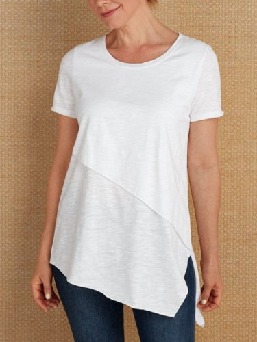 Casual Solid Paneled Shirts & Tops