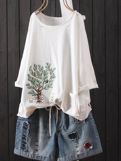 Casual Round Neck Shirts & Tops