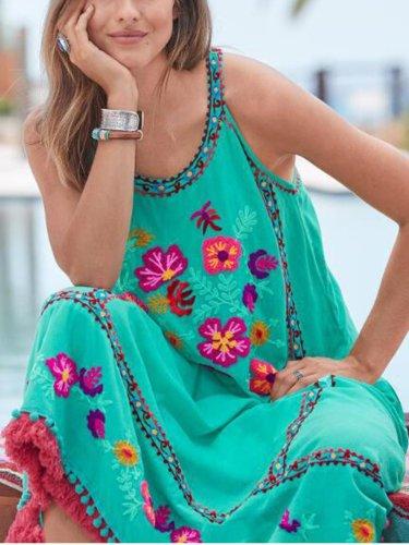 Cotton-Blend Cold Shoulder Dresses