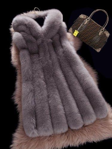 Women Faux Fur Vest Winter Waistcoat