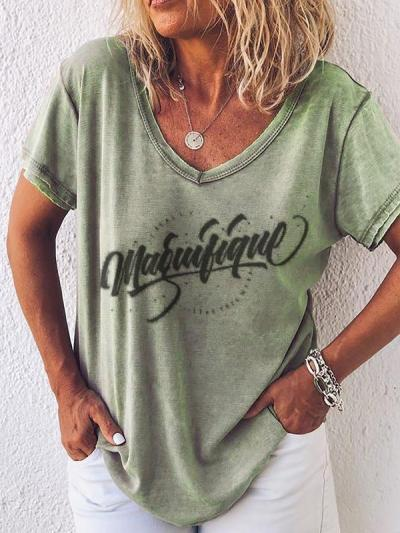 Casual Printed Daily T-shirt