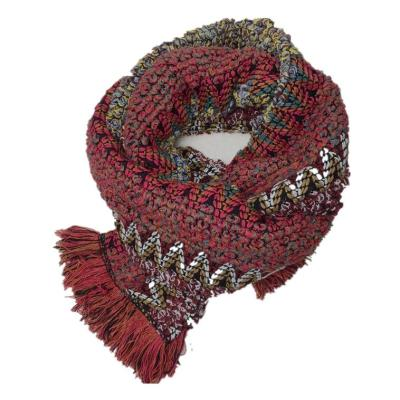 Winter Warm and Retro Long Scarf Knitting Tassel Knitted Scarf for Women