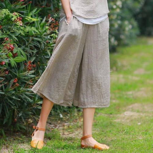 Leisure Loose Elegant Double Wide Leg Trousers