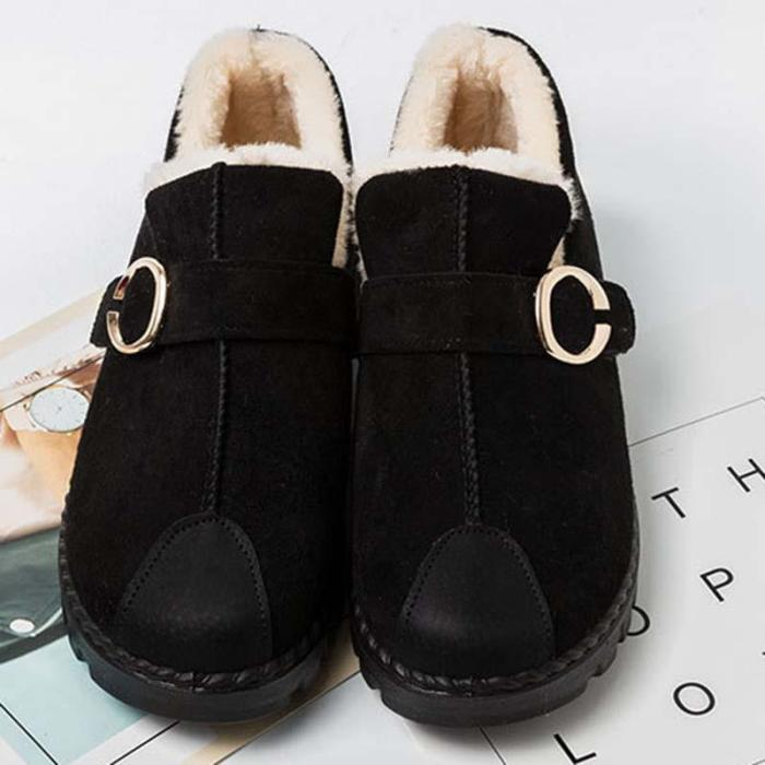 Women Snow Loafers Booties Casual Shoes