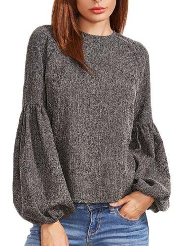Appliqued Sweet Cotton Blouse & Shirts