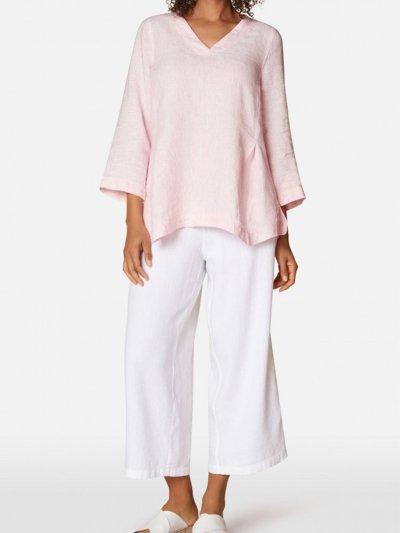 Linen Loose half-Sleeved Top