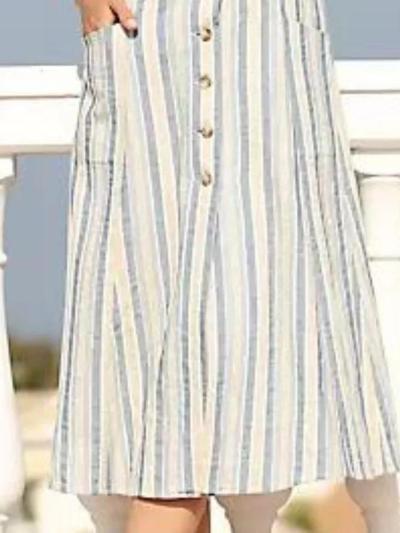 White Sleeveless Striped V Neck Dresses