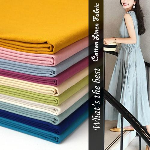 Cotton linen fabric Soft breathable DIY material sewing for thin summer clothing home decorate cloth 140*50cm