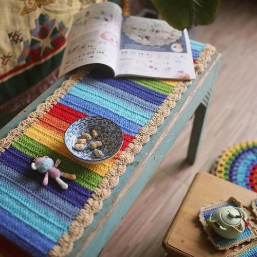 Rainbow Handmade Crocheted Table Mat