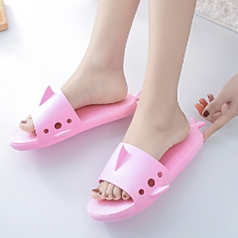 Women's Shark Daily Plastic Flat Heel Slippers