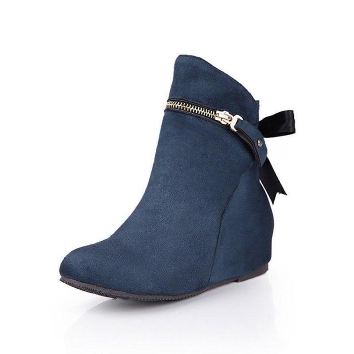 Women Flocking Booties Casual Comfort Shoes