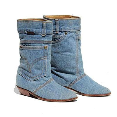Women Casual Denim Boots