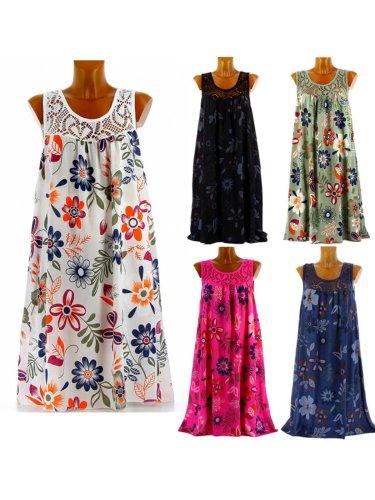 Women Casual Printed Tops Tunic Mini Dress