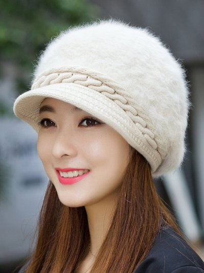 Fluffy Solid Elegant Knitted Cape