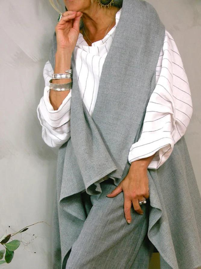 White Cotton-Blend Long Sleeve Solid Shirts