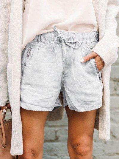 Pockets Cotton-Blend Casual Pants