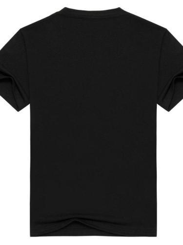 Black Crew Neck Cotton Short Sleeve Shirts & Tops