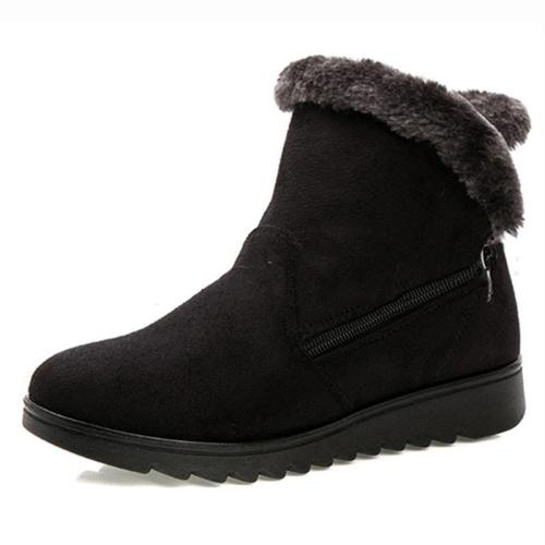 Women Winter Shoes Warm Snow Zipper Ankle Boots