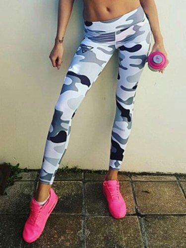 Multicolor Printed Casual Leggings