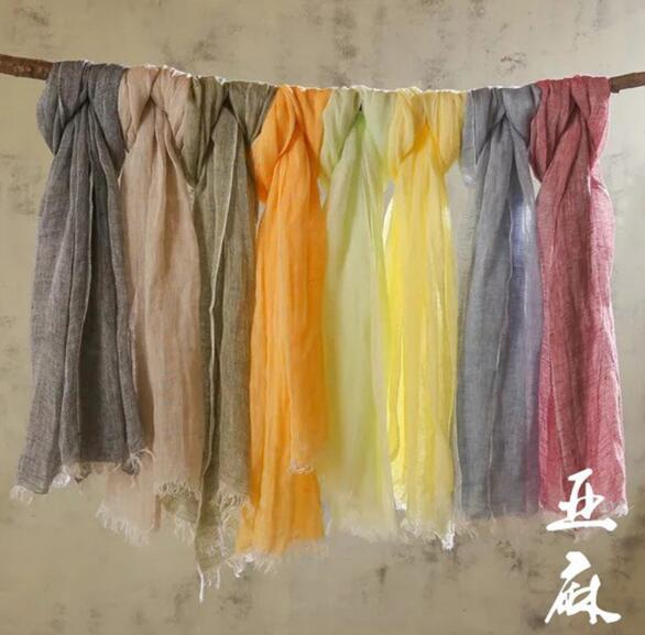 60x180cm Spring Women Cotton Linen Scarf Plain Solid Colorful Large Winter Scarves Wrap Stoles Pashmina Muslim Hijabs