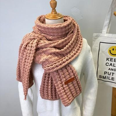 New winter Knitted Scarf Fashion Women Warm Pashmina  Thickened Wool Scarf