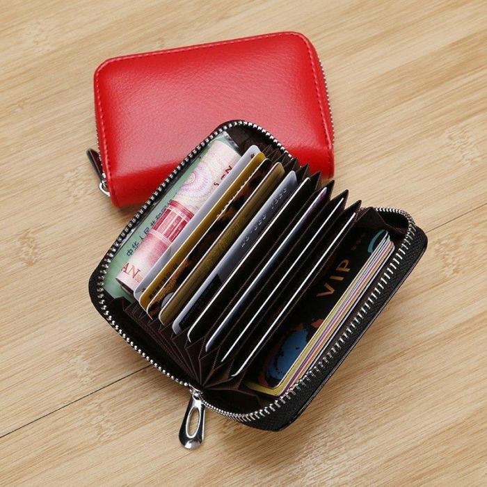 RFID Genuine Leather Card Wallet