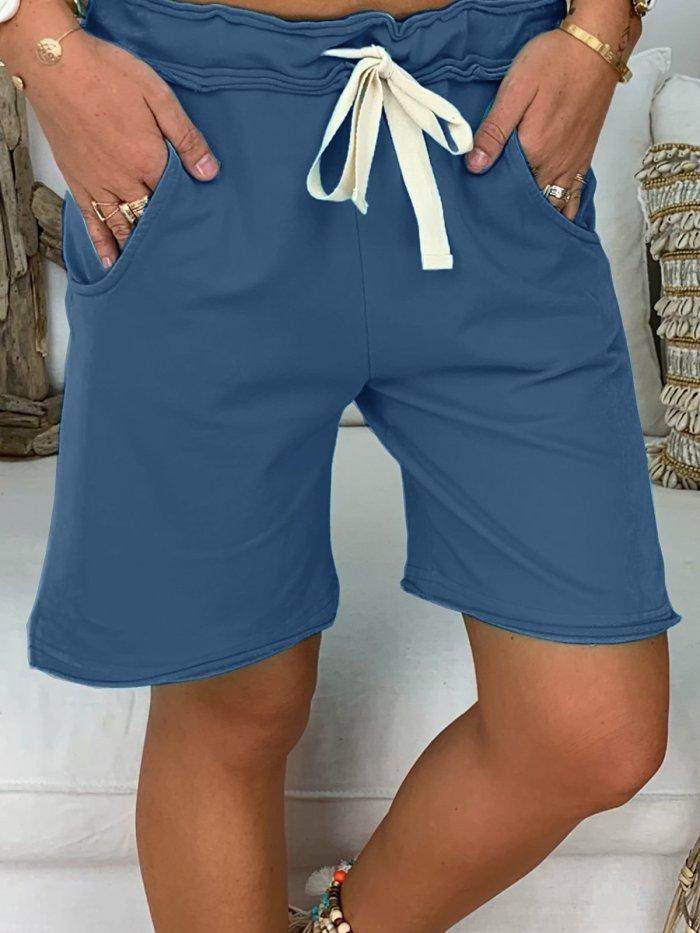 Casual Cotton Pockets Shorts