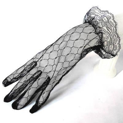 Multiple Colour Elastic Mesh Cloth Party Formal Etiquette Glove Women