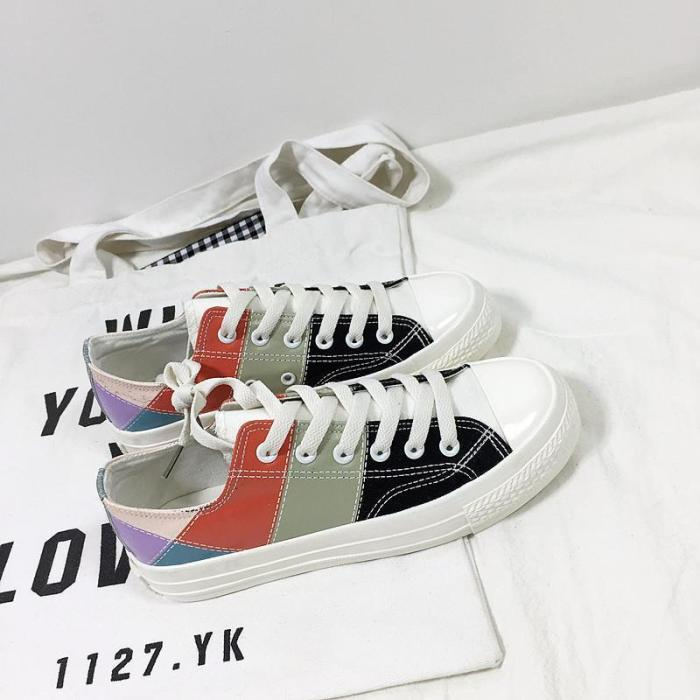 Women's Fashion Casual Harajuku Style Color Matching Sneakers