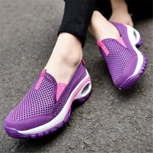 Women Athletic Sneakers Casual Slip On Breathable Shoes