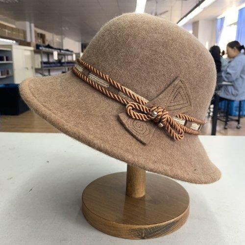 Women's Warm Wool Fisherman Hat Felt Hat